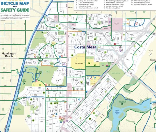 Costa Mesa Bike map
