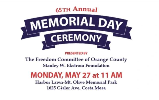 Memorial Day Ceremony Costa Mesa