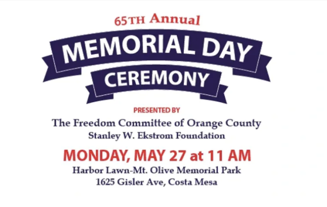 Memorial Day Ceremony Costa Mesa